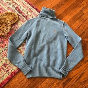 Ralph Lauren sport baby blue turtleneck sweater